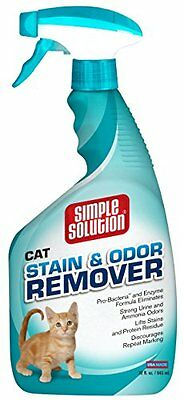 Simple Solution Cat Stain & Odor Remover, 32 Ounce Spray Bottle