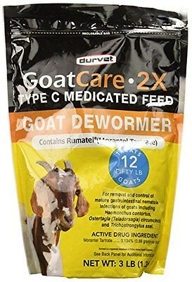 Wormer Goat Care 2X 3 Pound Package - Part #: 001-0311
