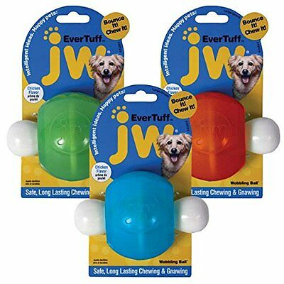 JW Pet Company 46124 EverTuff Wobbling Ball Toys for Pets, Large, Assorted
