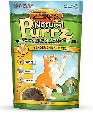 Zuke's Natural Purrz Purrfectly Sublime Soft Treats for Cats, Tender Chicke
