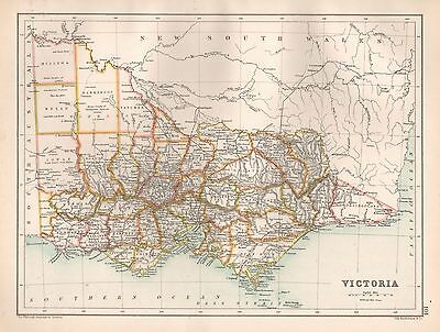 1900 Large Map Queensland And British New Guinea