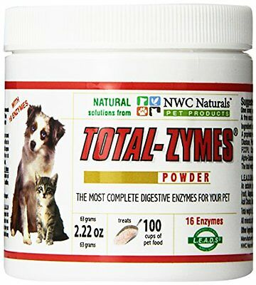 NWC Naturals- Total-Zymes - Enzymes for Canines and Felines - Treats 100 Cu