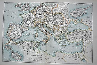 1900 Large Map Commercial Map Of The World On Mercator's Projection