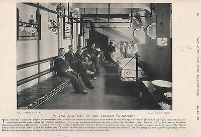 1896 Military Print : In The Sick Bay Of The Cruiser 'warspite'