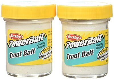 Berkley Powerbait Biodegradable Trout Bait, Marshmallow, 1.75-Ounce