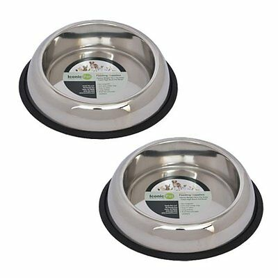Iconic Pet 4 Cup Heavy Weight Non-Skid Easy Feed High Back Pet Bowl for Dog