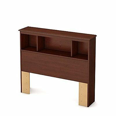 South Shore 39-Inch Little Treasures Bookcase Headboard, Twin, Royal Cherry