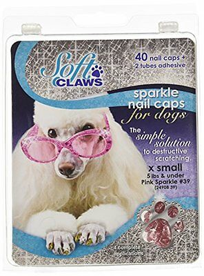 Canine Soft Claws Nail Caps, X-Small, Pink