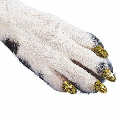 Soft Claws Dog and Cat Nail Caps Take Home Kit, X-Large, Sparkle Gold