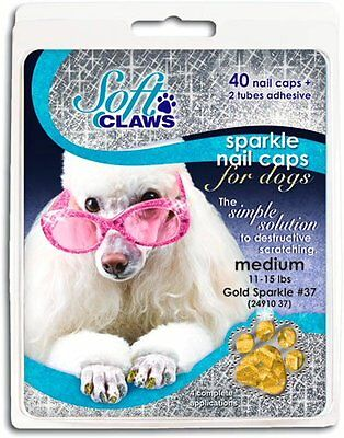 Canine take-home kit includes 40 nail caps, adhesive, 6 applicator tips and