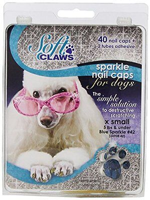 Canine Soft Claws Nail Caps, X-Small, Blue
