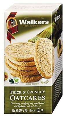 Walkers Shortbread Thick & Crunchy Oatcakes with Bran, 10.6 Ounce (Pack of