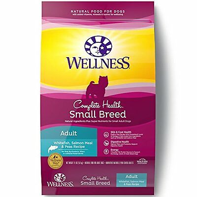 Wellness Complete Health Natural Dry Dog Food, Small Breed Salmon Meal & Pe