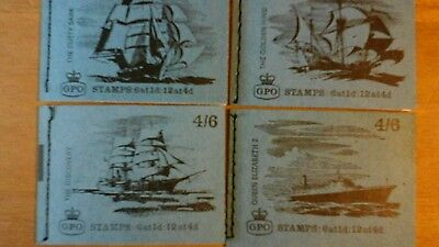 4 X Different 4/6 Ships Pre Decimal Booklets