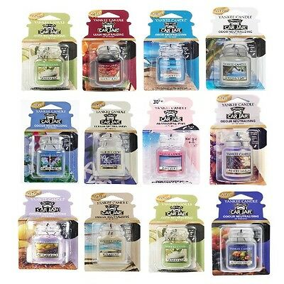 YANKEE CANDLE car jar ultimate + 10 fragranze profumatori auto