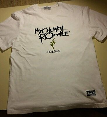 My Chemical Romance White Tshirt Top 40 Quality The Black Parade
