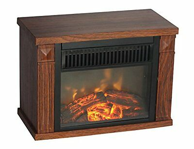 Comfort Glow EMF160 1200-watt Hearth Portable Fireplace Wood Grain, Mini