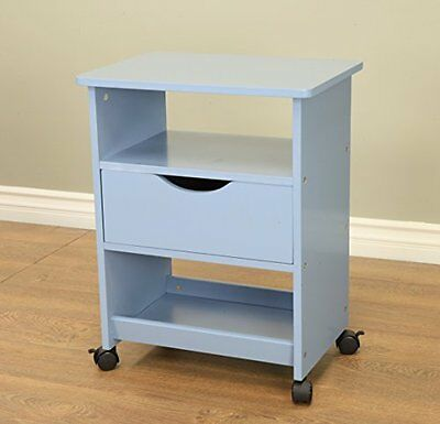 Frenchi Home Furnishing Rolling Cart with Drawer, Blue
