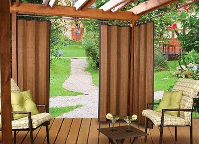 Versailles Home Fashions Indoor/Outdoor Bamboo Panel, 72-Inch, Espresso