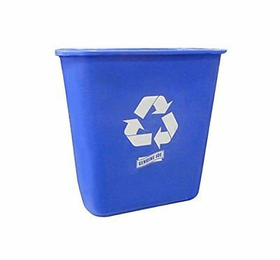 Genuine Joe GJO57257 Rectangular Recycle Wastebasket, 7.13 gallon Capacity,