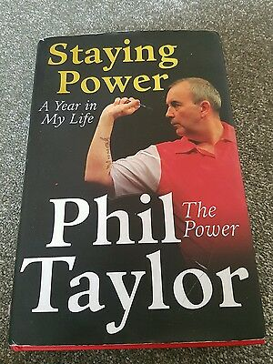 Phil The Power Taylor Signed Darts book excellent read 16 time champion pdc
