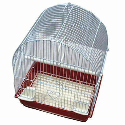 Iconic Pet Dome Top Bird Cage, Small, Red