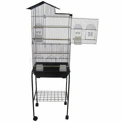 """YML 6894 3/8"""" Bar Spacing Tall Villa Top Bird Cage with Stand, 18"""" x 14""""/Sm"""