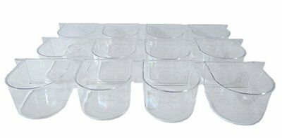 YML Clear Plastic Cup for Breeding Cages, Lot of 12