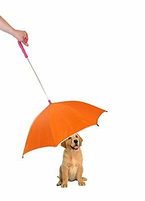 Pet Life Pour-Protection Umbrella with Reflective Lining and Leash Holder,