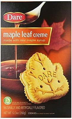 Dare Cookies, Maple Leaf Creme, 12.3-Ounce Packages (Pack of 12)