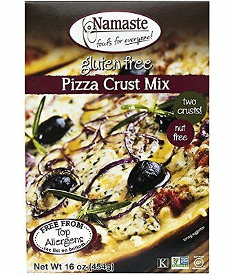 Namaste Foods, Sugar Free Gluten Free Pizza Crust Mix, 16-Ounce Bags (Pack