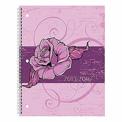 Brownline Monthly Academic Planner, July 2015 - August 2016, Poly Cover, Bl