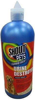 Shout Pets Turbo Oxy - Urine Destroyer - Fresh Scent - 32oz