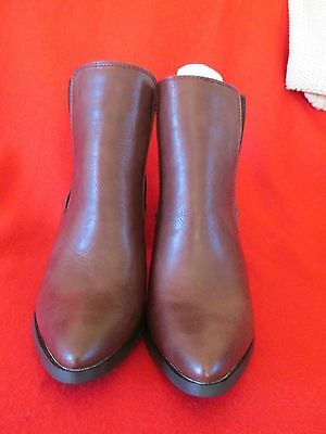 ladies ankle boots brown size 7