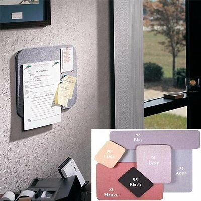"""Ghent 18""""x24"""" Fabric Tackboard w/ Wrapped Edge - Gray - Made in the USA"""