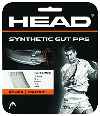 Head Synthetic Gut PPS 17 g Tennis String (White)
