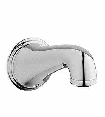 Grohe 13 612 BE0 Geneva 6-Inch Wall Mount Tub Spout, Sterling Infinity