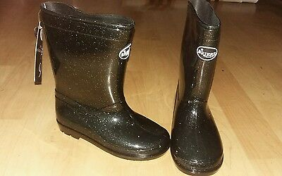 Navy Stardust space wellies boots Size 9