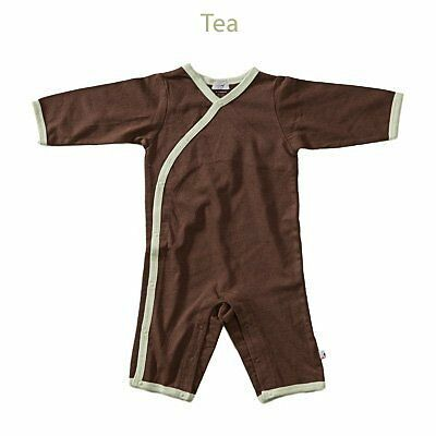 Baby Soy All-Natural Kimono Onepiece - Chocolate/Tea (0-3 Months)
