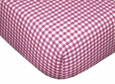 Tadpoles Classic Gingham Fitted Sheets - Set/2 - Fuchsia
