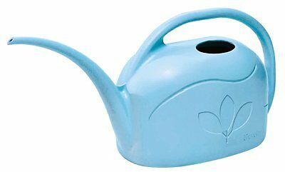 Plastic Watering Can, Sky Blue, 1-Gallon