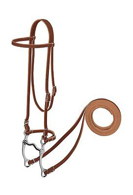 Weaver Leather Harness Leather Pony Browband Bridle with Sin