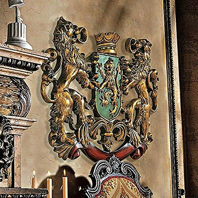 Design Toscano Inc Heraldic Royal Lions Coat of Arms Wall Sc