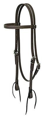 Weaver Leather Brahma Webb Browband Headstall, Brown