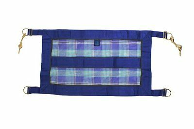 Kensington KPP Stall Guard with Hardware, Blue Ice Plaid, On