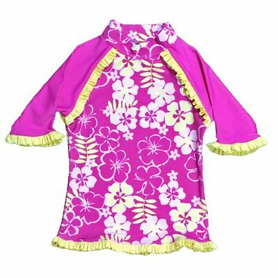 Baby Banz Little Girls'  Long Sleeve UV Rash Top With Tagless Neck, Sunblos