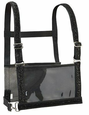 Weaver Leather Adult Exhibitor Number Harness with Overlay, Black Sparkle