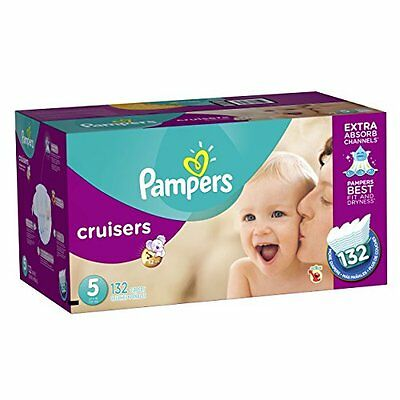 Pampers Cruisers Diapers Economy Plus Pack, Size 5, 132 Count (One Month Su