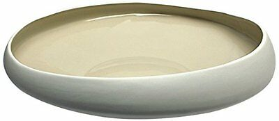Design Toscano Yoki 17-Inch Hand-Crafted Ceramic Bowl, Large, White