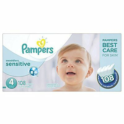 Pampers Swaddlers Sensitive Diapers Size 4 108 Count
